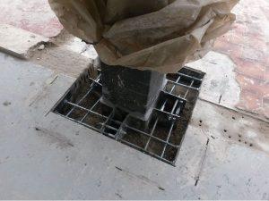 Intervento di rinforzo in fondazione di un pilastro (SLAB)