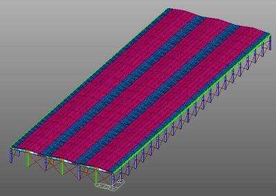 Modello FEM 3D della struttura