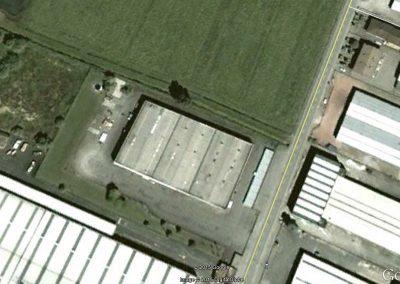 Vista aerea della struttura in oggetto