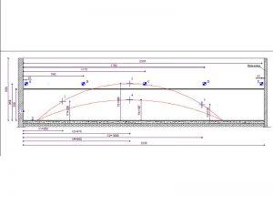Rilievo del quadro fessurativo e disposizione dei punti di misura
