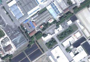 Foto aerea del complesso