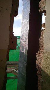 FRP pilastro: wrappaggio dell'elemento