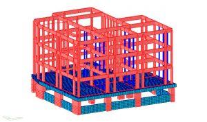 Modello FEM della struttura allo stato di progetto