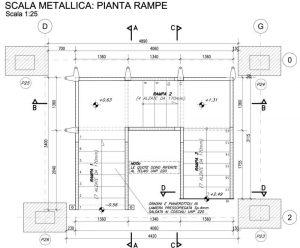 Nuova scala metallica al piano seminterrato