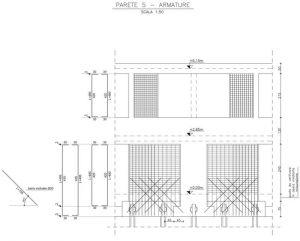 Irrigidimento di alcune maglie del telaio esistente con pareti in c.a.