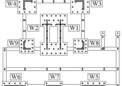 Studio della collocazione delle pareti di controventamento in c.a. e delle fondazioni con micropali