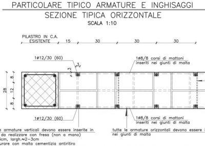 Rinforzo delle pareti murarie mediante inserimento di barre d'armature