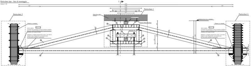 Reticolare in acciaio con doppio sistema di messa in coazione
