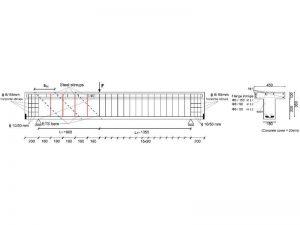 Schema del prototipo di trave testato