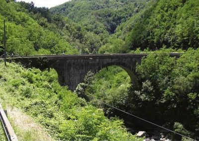 Immagine del ponte in muratura di San Marcello Pistoiese