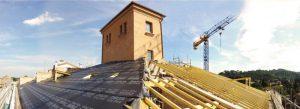 Realizzazione strutture di copertura in legno (falde su via Saragozza e via Malpertuso)