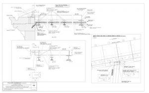 Sezione verticale di progetto nuovo solaio piano terzo