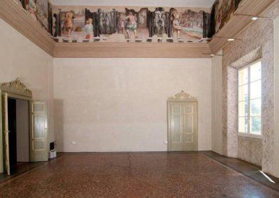"""Particolare della """"Sala Rossa"""" dopo i lavori e il restauro"""