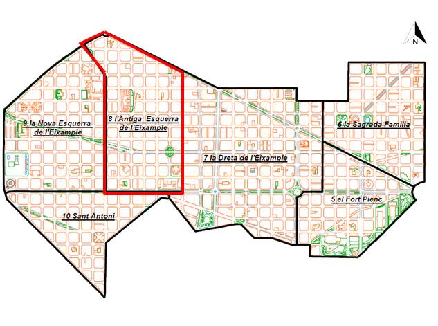 Valutazione rischio sismico Esquerra de l'Eixample, Barcellona