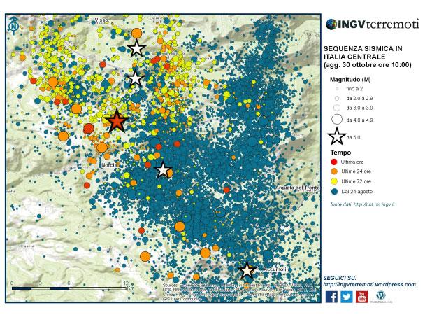 Terremoto del Centro Italia del 26 Ottobre 2016. Notizie e considerazioni. AGGIORNATO (30 Ottobre 2016)