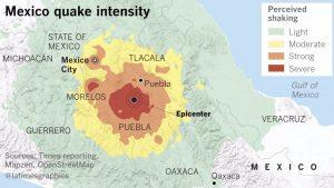 Mexico quake intesity